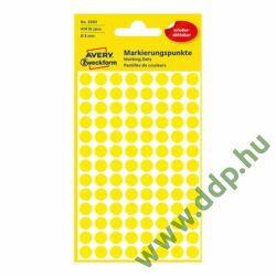 Etikett címke speciális visszaszedhető sárga 8mm 4ív -3593- Avery-Zweckform