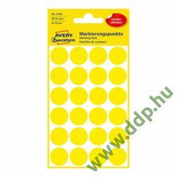 Etikett címke speciális visszaszedhető sárga 18mm 4ív -3598- Avery-Zweckform