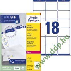 Etikett 7161 63,5x46,6mm 100ív Avery-Zweckform QuickPeel