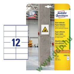 Etikett címke szuper tapadású fehér 105x48mm -L7875- Avery-Zweckform