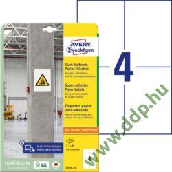 Etikett címke szuper tapadású fehér 105x148mm -7876- Avery-Zweckform