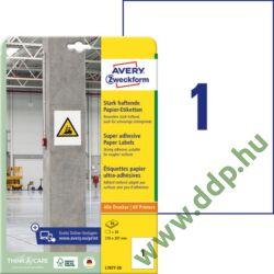 Etikett címke szuper tapadású fehér 210x297mm -7877- Avery-Zweckform