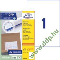 Etikett címke univerzális fehér 210x297mm 220ív -3478-200- Avery-Zweckform