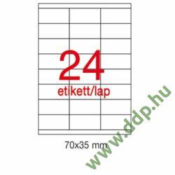 Etikett A1272 35x70mm 100ív LCA3134 Apli