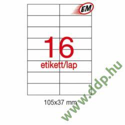 Etikett A10817 37x105mm 100ív LCA10817/A1274 Apli