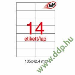 Etikett A1277 42,4x105mm 100ív LCA1277 Apli