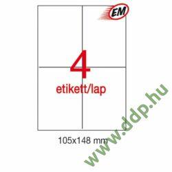 Etikett A1280 148x105mm 100ív LCA1280 Apli