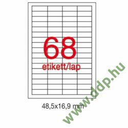 Etikett A1282 16,9x48,5mm 100ív LCA3128 Apli