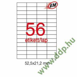 Etikett A1284 21,2x52,5mm 100ív LCA1284 Apli