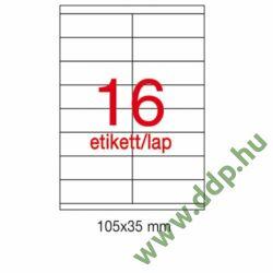 Etikett A1287 35x105mm 100ív LCA3137 Apli