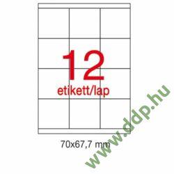 Etikett A1290 67,5x70mm 100ív LCA1290 Apli