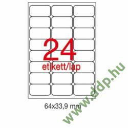 Etikett A2409 64x33,9mm 100ív kerekített sarkú APLI