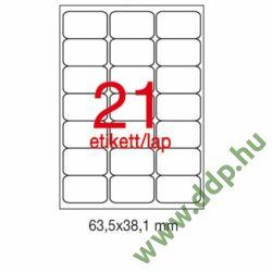 Etikett A2414 63,5x38,1mm 100ív kerekített sarkú APLI