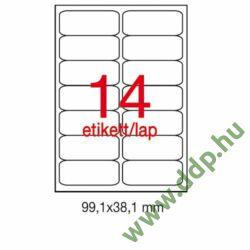 Etikett A2419 99,1x38,1mm 100ív kerekített sarkú APLI