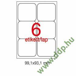 Etikett A2421 99,1x93,1mm 100ív kerekített sarkú APLI