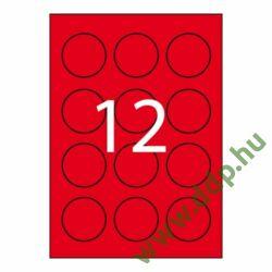 Etikett öntapadó kör 60 mm átmérő, 240 etikett/csm piros APLI -LCA2868-