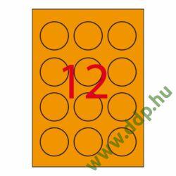 Etikett öntapadó kör 60 mm átmérő, 240 etikett/csm narancs APLI -LCA2867-