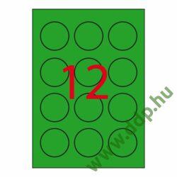 Etikett öntapadó kör 60 mm átmérő, 240 etikett/csm neon zöld APLI -LCA2869-