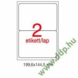 Etikett A2423 199,6x144,5mm 100ív kerekített sarkú APLI