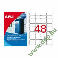 Etikett 45,7x21,2 mm 4pasztel vízálló 960db/csomag 20 ív Apli -LCA12112-