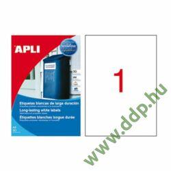 Etikett 210x297 mm 1pasztel vízálló 100db/csomag 100ív APLI -LCA12121-
