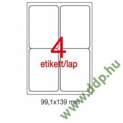 Etikett A2422 99,1x139mm 100ív kerekített sarkú APLI