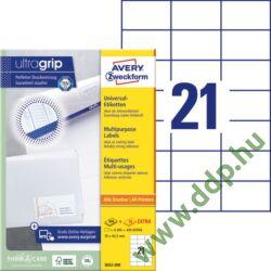 Etikett címke univerzális fehér 70x42,3mm 220ív -3652-200- Avery-Zweckform
