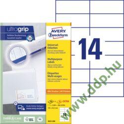 Etikett címke univerzális fehér 105x42,3mm 220ív -3653-200- Avery-Zweckform