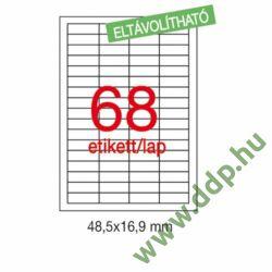 Etikett LCA03053 48,5 x 16,9 mm eltávolítható 6800db/csomag APLI