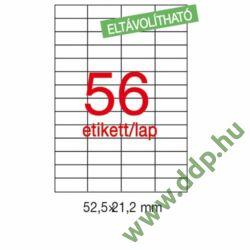 Etikett LCA03055 52,5 x 21,2 mm eltávolítható 5600db/csomag APLI