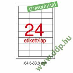 Etikett LCA03056 64,6 x 33,8 mm eltávolítható 2400db/csomag APLI