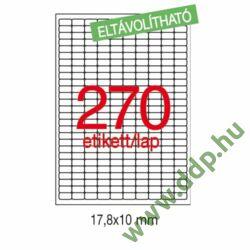 Etikett LCA10197 17,8x10 mm eltávolítható kerekített sarkú 6750db/csomag APLI