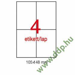Etikett LCA1227 105 x 148 mm fehér vízálló 80db/csomag 20 ív APLI