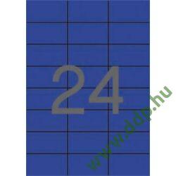 Etikett 70x37 20 íves kék APLI -LCA1592-