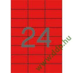 Etikett 70x37 20 íves piros APLI -LCA1593-