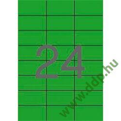 Etikett 70x37 20 íves zöld APLI -LCA1594-