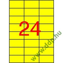 Etikett 70x37 20 íves sárga APLI -LCA1591-