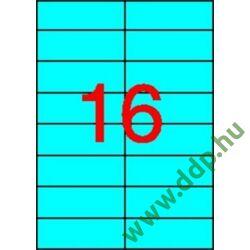 Etikett 105x37mm 20 íves Apli kék -LCA1596-