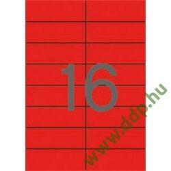 Etikett 105x37mm 20 íves Apli piros -LCA1597-