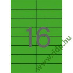 Etikett 105x37mm 20 íves Apli zöld -LCA1598-