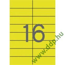 Etikett 105x37mm 20 íves Apli sárga -LCA1595-
