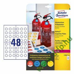 Etikett címke eltávolíthatatlan plakettek nyomtatható, fehér 20mm, Avery-Zweckform