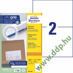Etikett címke univerzális fehér 210x148mm 220ív -3655-200- Avery-Zweckform