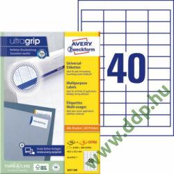 Etikett címke univerzális fehér 48,5x25,4mm 220ív -3657-200- Avery-Zweckform