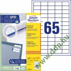 Etikett címke univerzális fehér 38x21,2mm 220 ív -3666-200- Avery-Zweckform