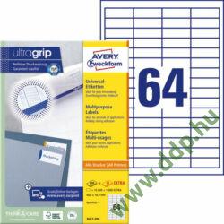 Etikett címke univerzális fehér 48,5x16,9mm 220ív -3667-200- Avery-Zweckform