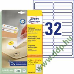 Etikett címke speciális visszaszedhető 96x16,9mm 30ív L6031REV-25 Avery-Zweckform