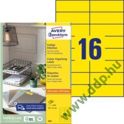Etikett címke univerzális 105x37mm 100ív sárga Avery-Zweckform