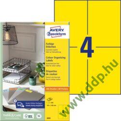 Etikett címke univerzális 105x148mm 100ív sárga Avery-Zweckform