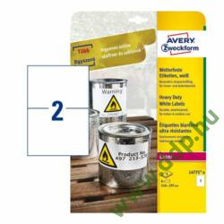 Etikett címke speciális időjárásálló poliészter fehér 210x148mm 20ív Avery-Zweckform